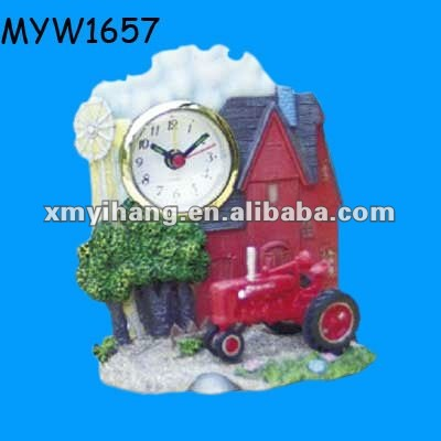 hot sale resin red car clock desk alarm clock