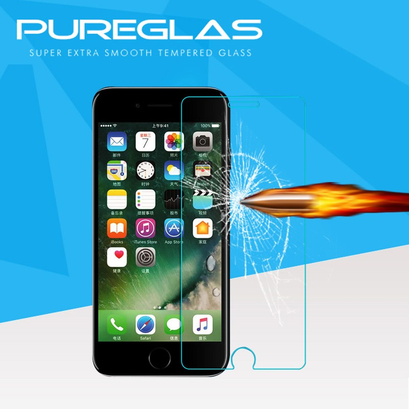 2016 Pureglas Factory Made in Chian Screen Protector Sticker for Iphone7 /for iphone 7