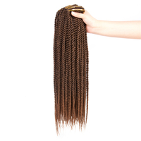 2018 New Design Synthetic Senegalese Ombre Twist Crochet Braids Hair Weaves