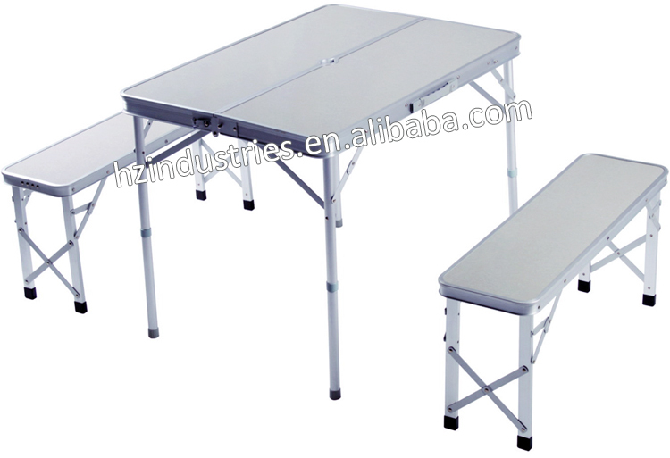Outdoor aluminum folding picnic table with umbrella for - Aluminium picnic table with umbrella ...