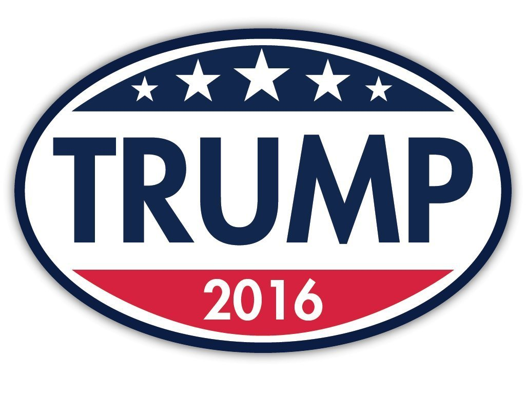 Trump 2016 Oval Magnet- Republican Magnet - Cars Trucks SUVs