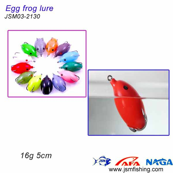 Egg Shape Frog Lure,Egg Frog Rubber Bait,Soft Fishing Lure ...