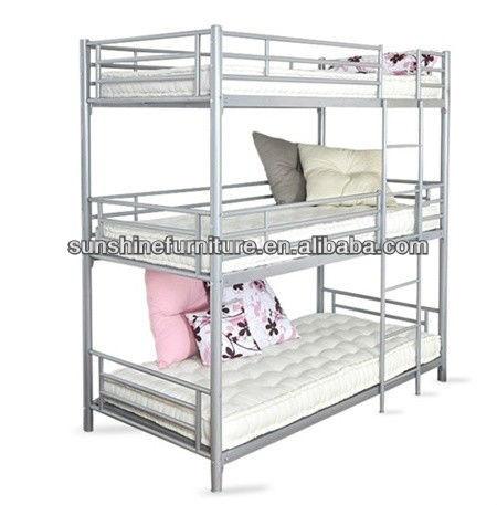 Metal Triple Bunk Bed Buy Adult Metal Bunk Beds Metal Frame Bunk Beds Triple Bunk Beds Sale Product On Alibaba Com