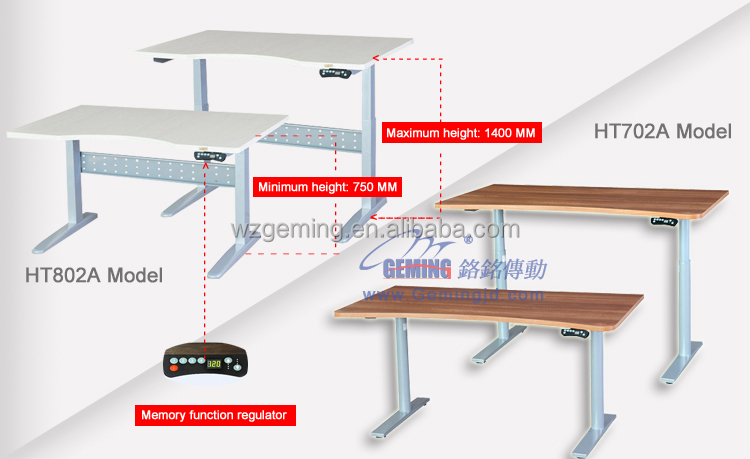 Chinese factory outlet 48v silvery Electric lift desk lifting table lifting column
