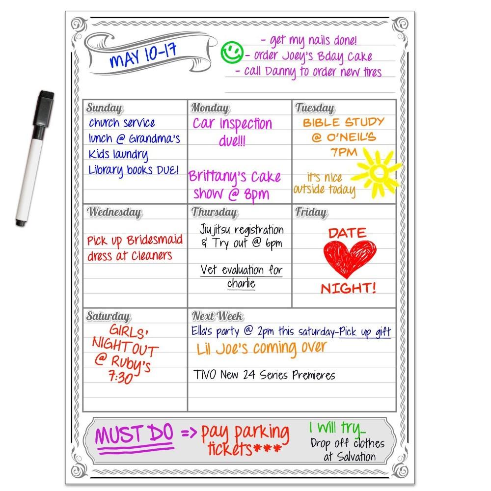 """Monatliche Magnetischen Kühlschrank Kalender Whiteboard Planer Für Küche  Kühlschrank 20 """"x 20"""" - Buy Whiteboard Planer,Magnetische  Kalender,Monatliche"""