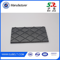 Homemade Chevron Pattern V Rubber Conveyor Black Belt