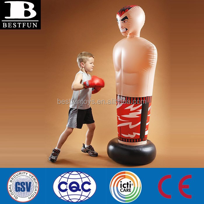 Factory Customized Kids Water Filled Base Inflatable Free Standing Punching Bag Pvc Boxing Bags Plastic Bop For