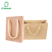 High quality Custom Printed Brown Paper Bag Logo for shopping