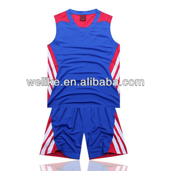 46b8f040be3 2014 new style basketball jersey blue badminton sport wear cheap plain basketball  uniform wholesale