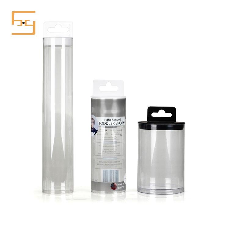 Custom Printing Transparent Plastic Tube for Tableware Packaging