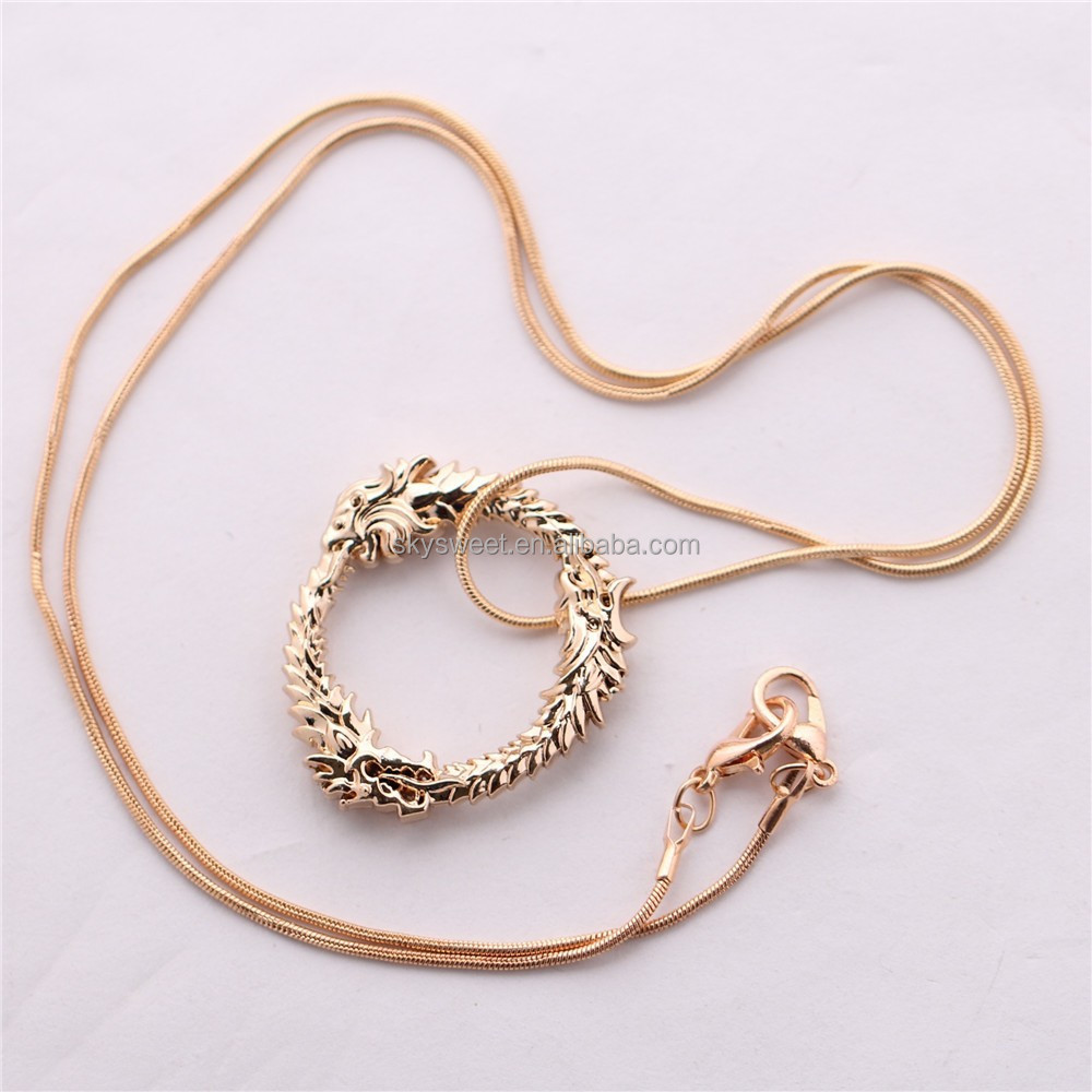 fashion necklace Dragon pendant,the game The Elder Scrolls Skyrim necklace(SWTMD1461)