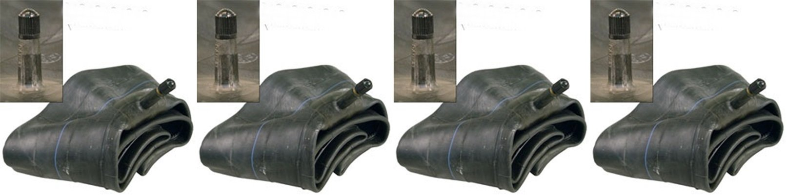 "SET OF FOUR (4) Air Loc Brand Tire Inner Tubes with TR13 Rubber Valve Stem (2 of 6"") & (2 of 8"") inch Combination Sizes 2 ea. 15x6.00-6 and 2ea. 18/20x8.50/9.50/10-8"