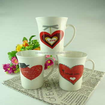 wholesale custom christmas design tall ceramic coffee mugs for promotional - Christmas Coffee Cups