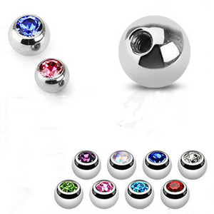 Quality bezel setting jeweled stainlees steel ball