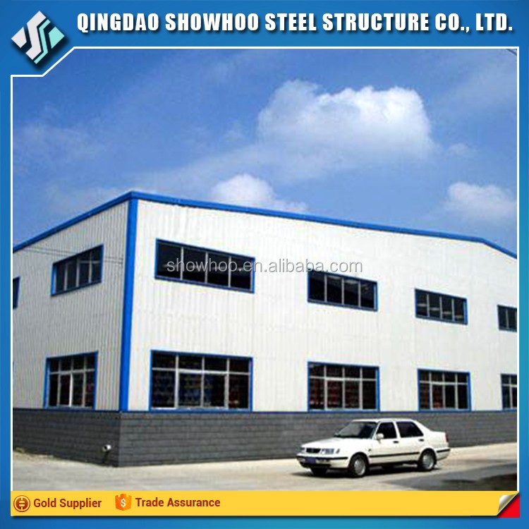 Low cost multi-storey light steel structure building pre fabricated warehouse car workshop design
