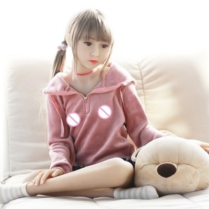 S6075 High Quality Silicone Young Girl Lifelike 130cm Sex Doll Flat-Chested Mini Girl Sexy Love Doll for Male