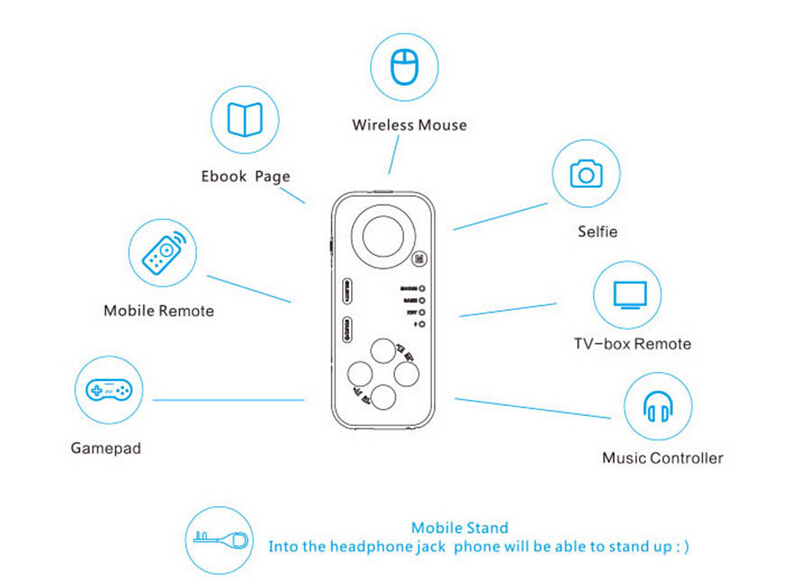 multifunction mini bluetooth selfie remote control shutter gamepad multifunction mini bluetooth selfie remote control shutter gamepad wireless mouse for ios android laptop ipad
