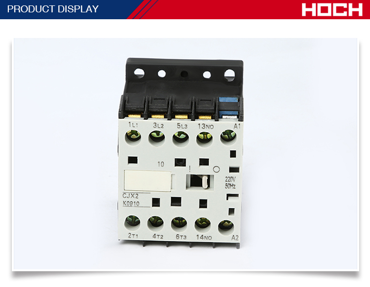 HOCH CJX2-K2 380V high quality brand type three 3p pole phase interlock mechanical ac motor contactor price list manufacturers