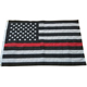 Embroidered Stars Sewn Stripes 3 x 5 Ft Thin Red Line Flag