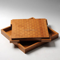 wooden tray Bamboo tea tray Bamboo Serving Water Tray for Gongfu Tea Ceremony