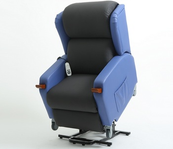 Konfurt Blue Lift Chair with Medical Castors and Brake Waterproof Seat Material