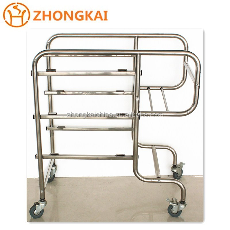 China Stainless Steel Trolley Mobile Food Service Trolley Manufacturer