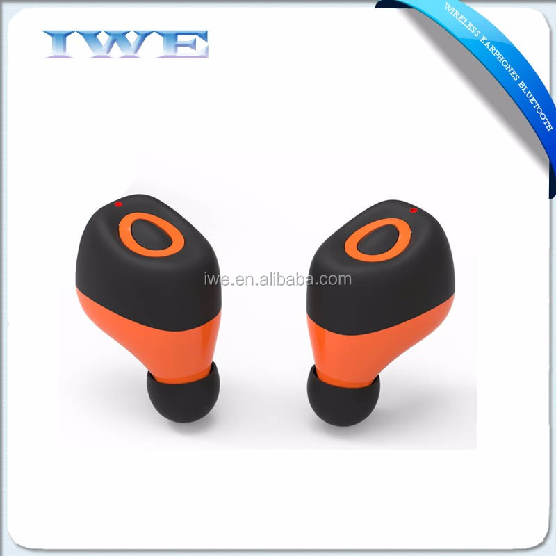 new goods wireless bluetooth small earphones, 2017 twins earphones bluetooth wireless