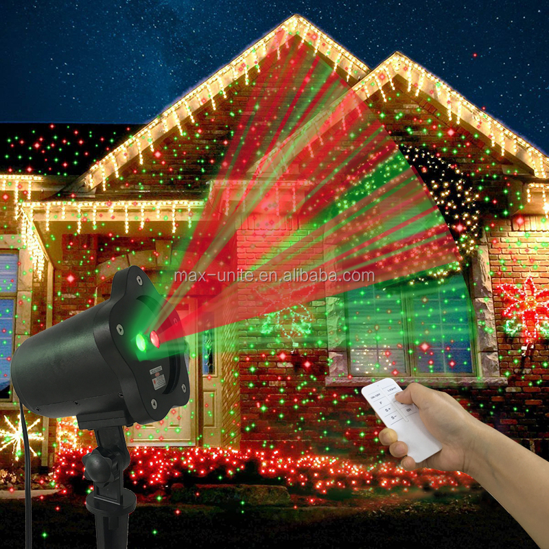 Manufactured 12 years Waterproof Outdoor Star RG Christmas laser light outdoor christmas lights projector