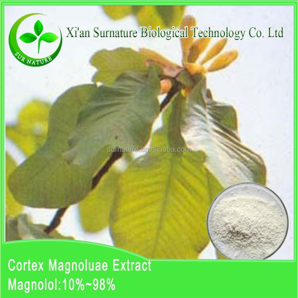 Organic magnoliae officinalis extract/ Magnolia Bark Extract with 45%,50%,80%,90%,95% Magnolol CAS NO:528-43-8