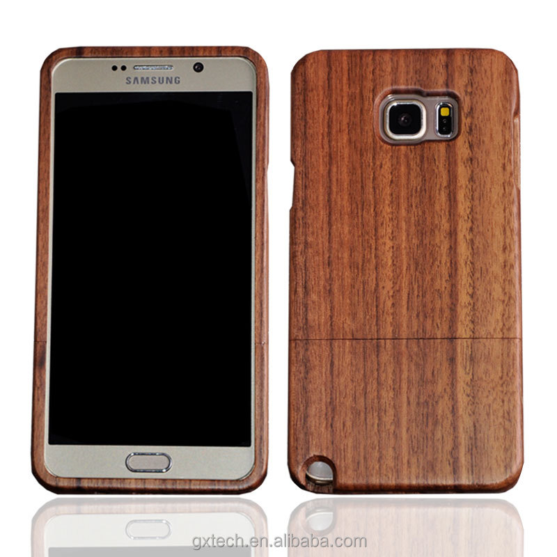Mobile Phone Accessories, Wooden Cell Phone Cover for Samsung Note5, Walnut Wood Smart Phone Case for Samsung Note5