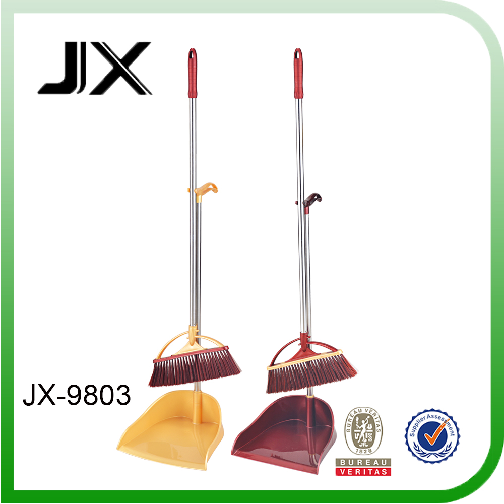 House usage Plastic PET Broom with PP Dustpan set