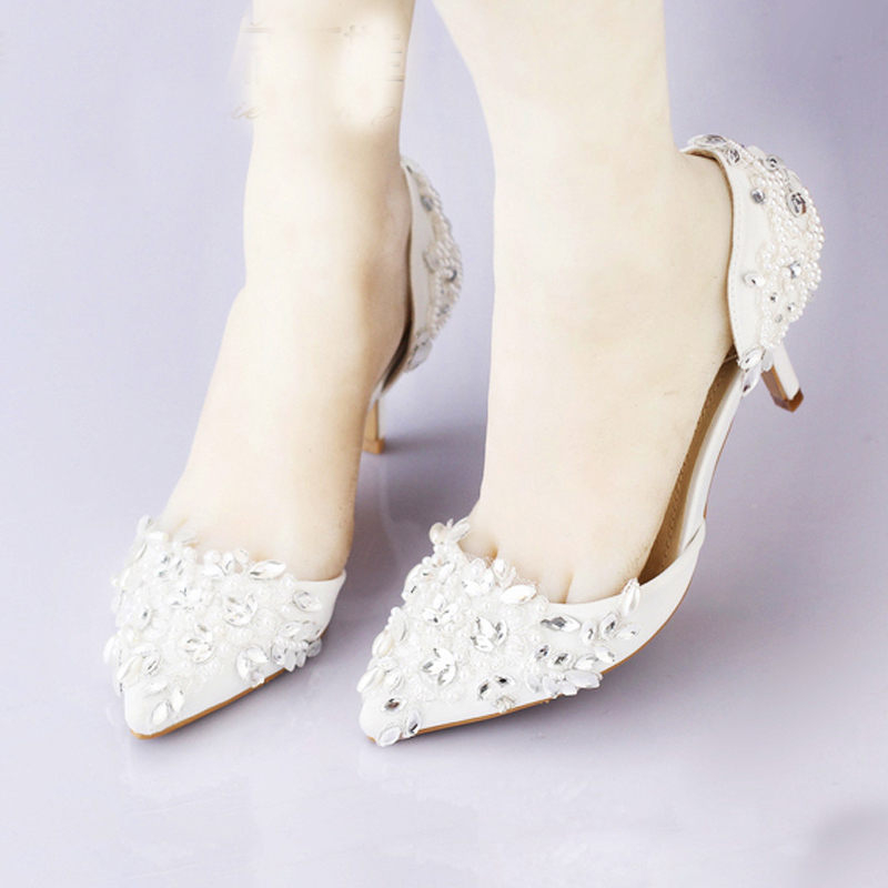 Cheap-Pointed-Toe-Wedding-Shoe-Comfortable-Middle-Heel