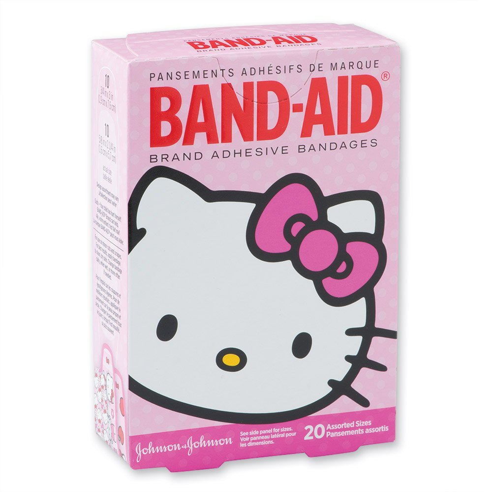Band-aid Hello Kitty Bandages - 20 Per Pack