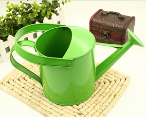 Green Hanging Metal Watering Can Wholesale