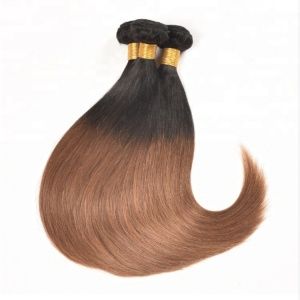Chison hair Two Tone hair weave bundles For Black Women ,1B 27 Ombre Braiding Color Hair