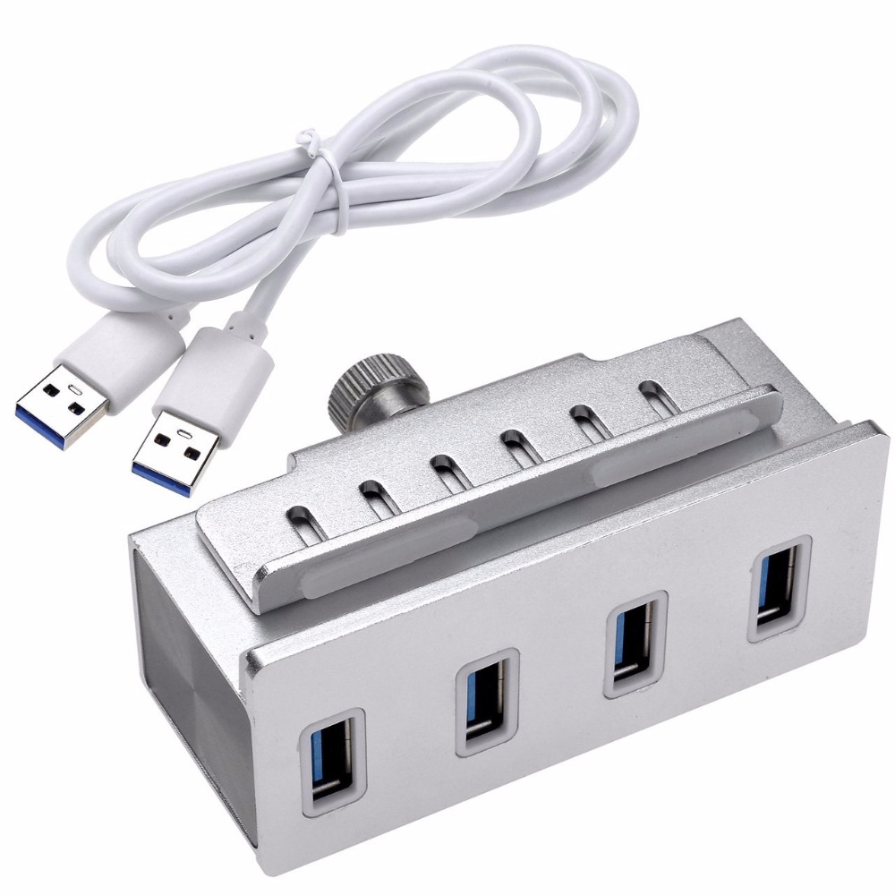 new mountable aluminum 4 port usb 3 0 hub for mac pro imac macbook air macbook pro mac pro. Black Bedroom Furniture Sets. Home Design Ideas