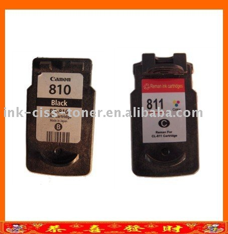 Remanufactured Ink Cartridge 810 / 811 For Canon Mp258