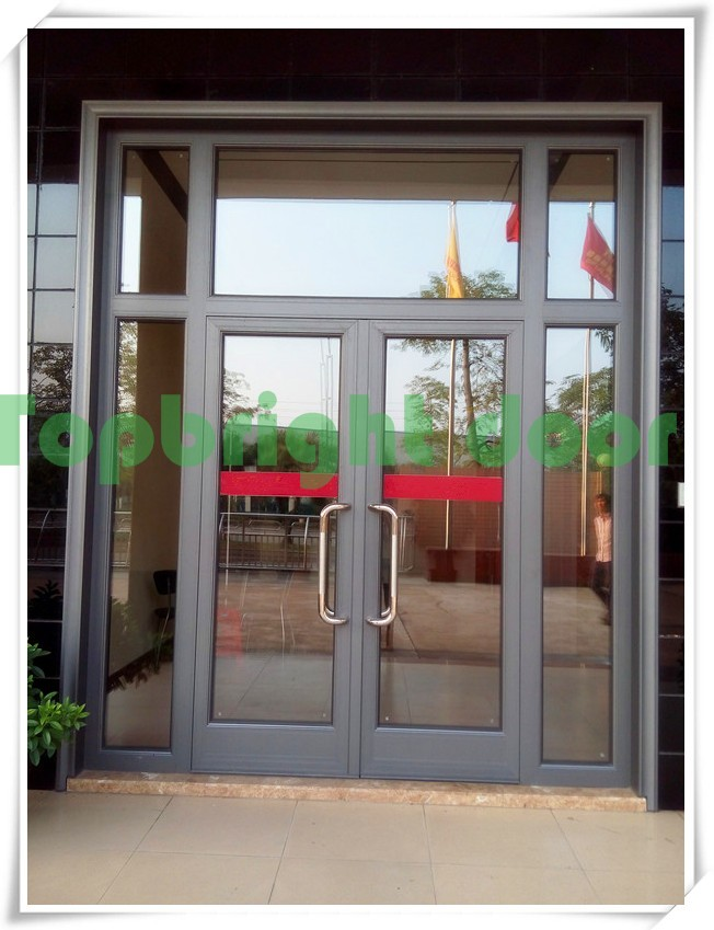 Double Glass Exterior Aluminium Commercial Steel French