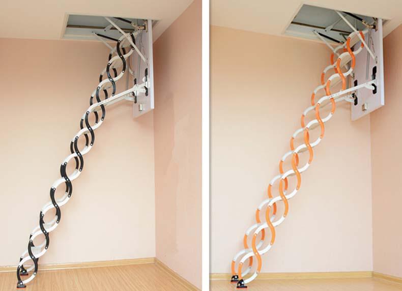 伸縮式リトラクタブル家庭用アルミリフト屋根裏屋根裏部屋の階段階段ロフトはしご屋根裏部屋の階段 Buy 屋根裏部屋