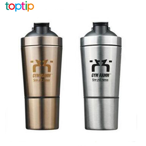 BPA FREE Single-Layer Shaker Bottle Custom Stainless Steel Protein Bottle