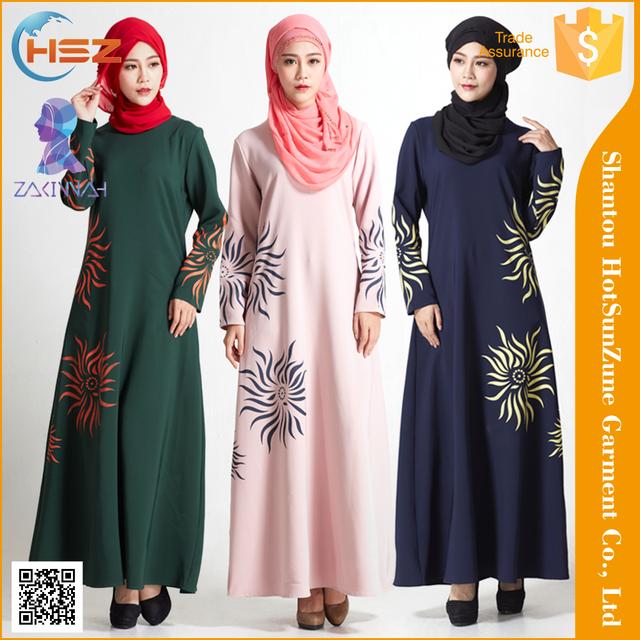 ea59f6dd8c9 Zakiyyah MD832 Turkish Style Fashion Abaya Simple Printed Abaya Kaftan  Fafta Arab Jalabiya Dubai Dress Women