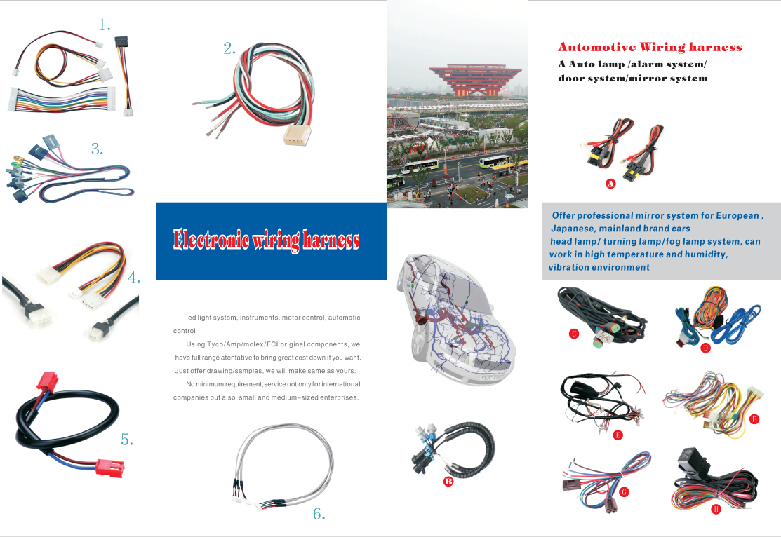 Factory Custom Electrical Wire Cable Electronic Jst Molex Wire Harness on