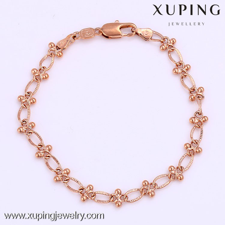 72271-Hot sale beautiful gold necklace jewelry designs in 6 grams bracelet
