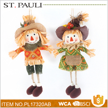 china supplier cotton scarecrow ornament thanksgiving decorated craft gift for wholesale
