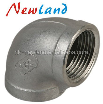 2018 NL12414 Hot sales high quality stainless steel 90 degree elbow