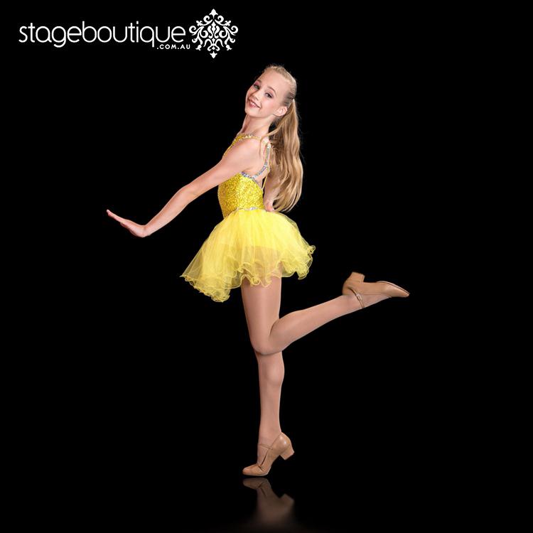 9dfe41da3708 Belle Yellow Silver Sequin Tap Cute Jazz Stage Costume Jazz Dance ...