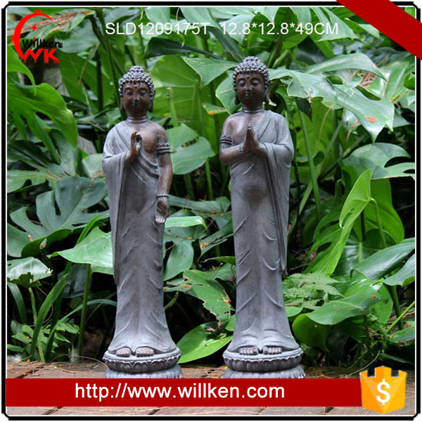 Resin buddha statue art sculpture for outdoor garden decoration.