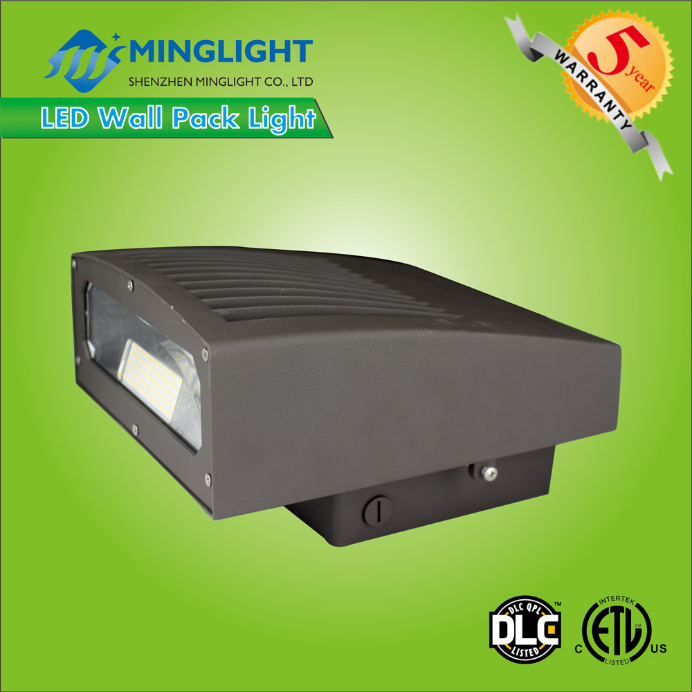 DLC ETL listed IP65 led wall pack light angle adjustable outdoor wall light 20W~ 80W