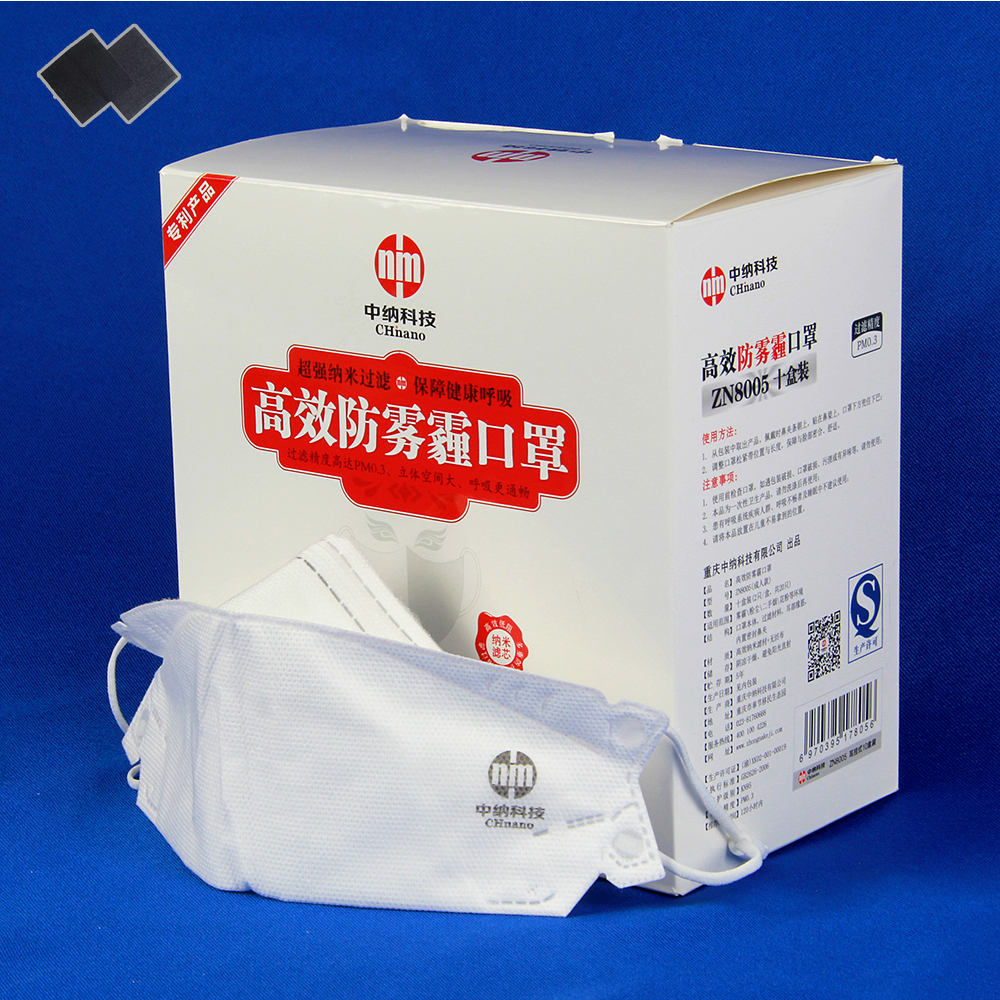 p1 hot sell n95 non-woven raw Nano fiber material face dust mask