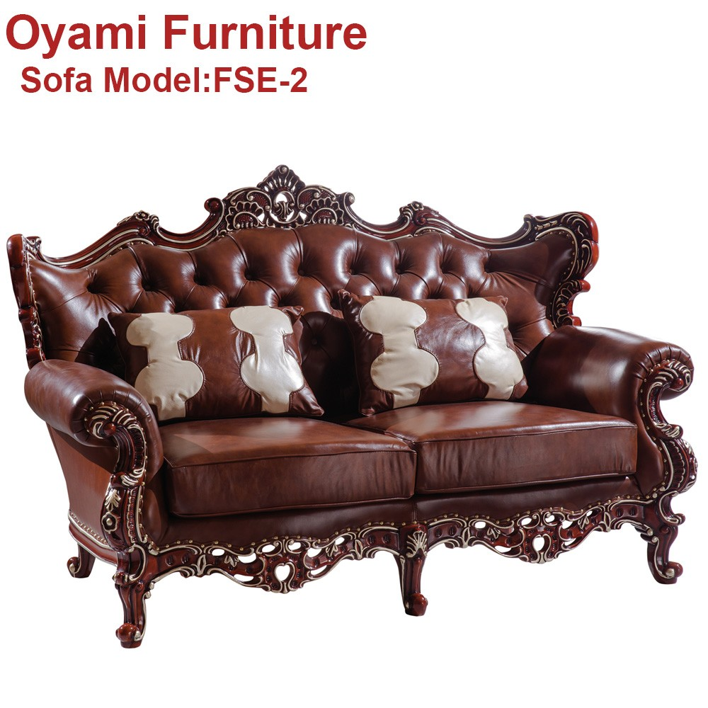 Wood Hand Carved High quality luxury dubai classic sofa furniture